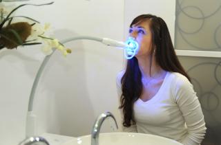 青色LED照射器