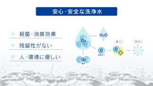 安心・安全な洗浄水